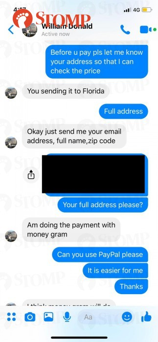 Scammer sends money to seller for camera lens through