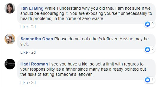 Man's FB post about how he ate stranger's leftovers at