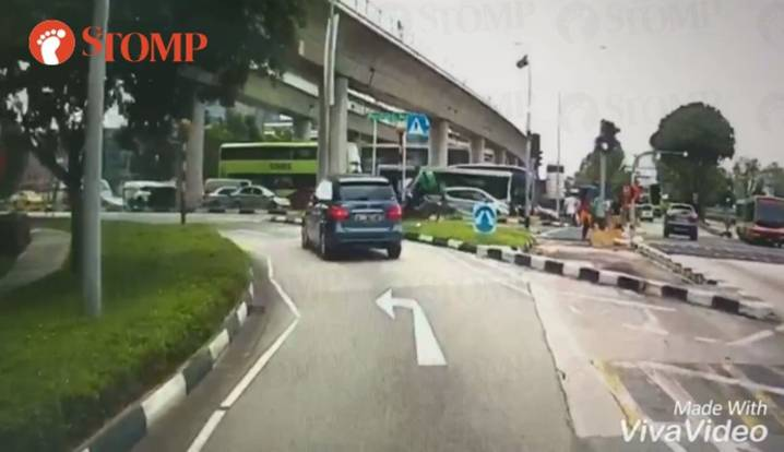Mercedes knocks down delivery rider at pedestrian crossing -- then simply drives off