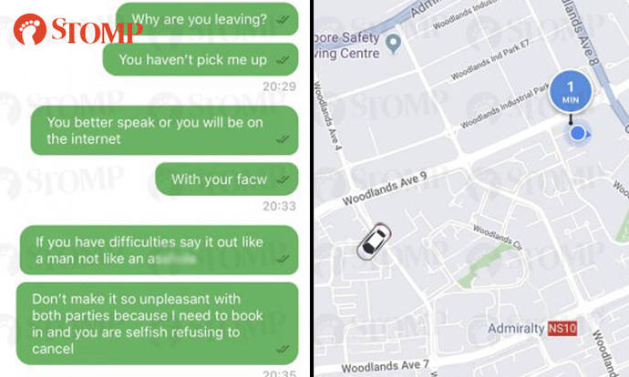 Go-Jek driver accepts booking -- only to drive past passenger and ignore messages