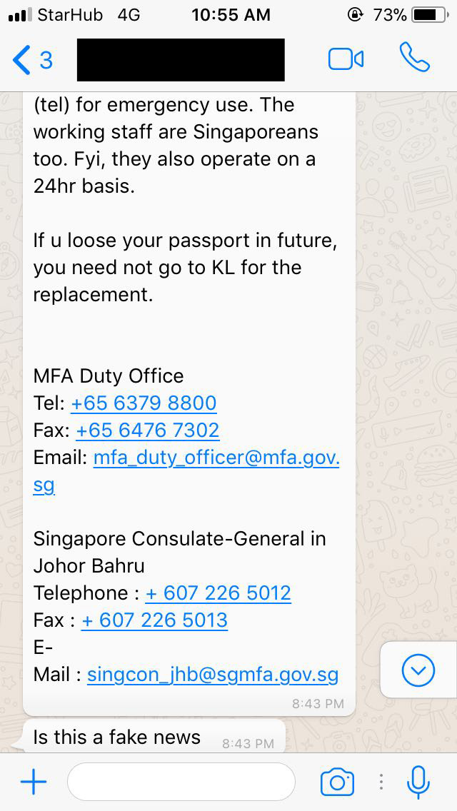 Received message about MFA opening new